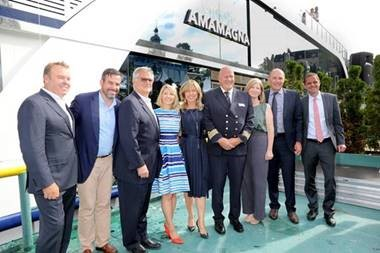 AMAWATERWAYS OFFICIALLY WELCOMES REVOLUTIONARY AMAMAGNA WITH FESTIVE CHRISTENING CEREMONY