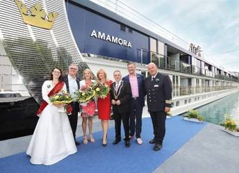 AMAWATERWAYS CELEBRATES AMAMORA CHRISTENING, OFFICIALLY WELCOMING THIRD SHIP FOR 2019 SEASON