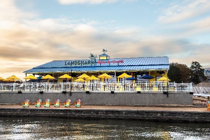 LANDSHARK BAR & GRILL NOW OPEN AT MARGARITAVILLE LAKE RESORT, LAKE OF THE OZARKS